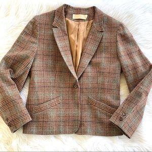 Vintage 70s Pendleton Plaid Virgin Wool Blazer